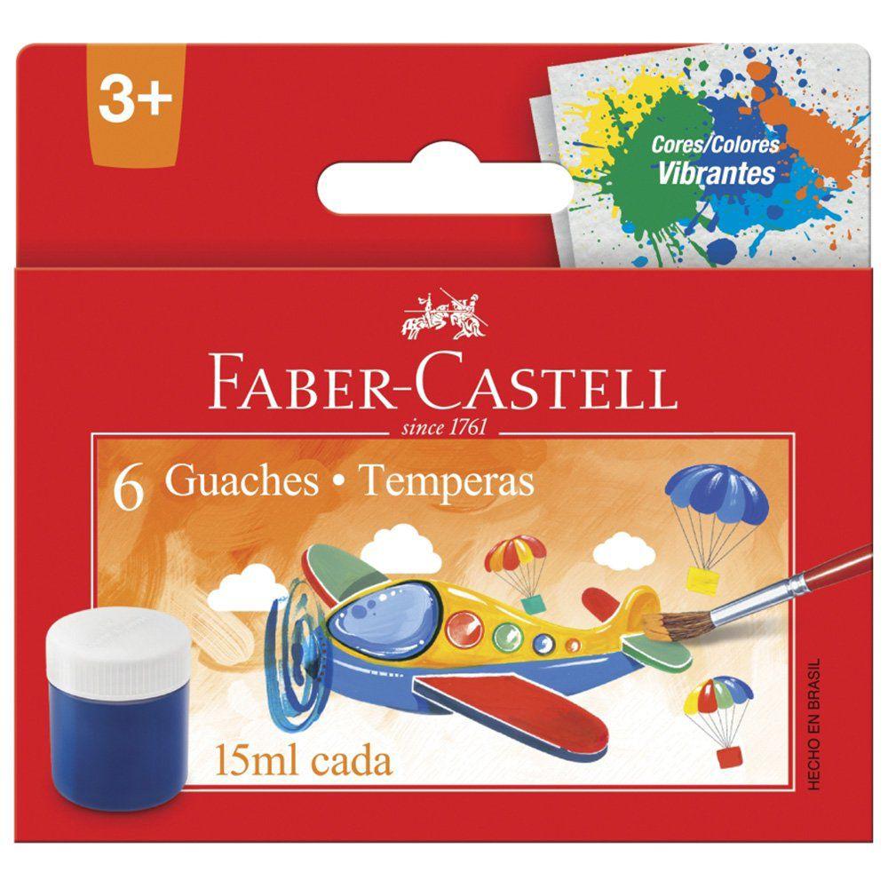 Tinta Guache 6 Cores - Faber Castell