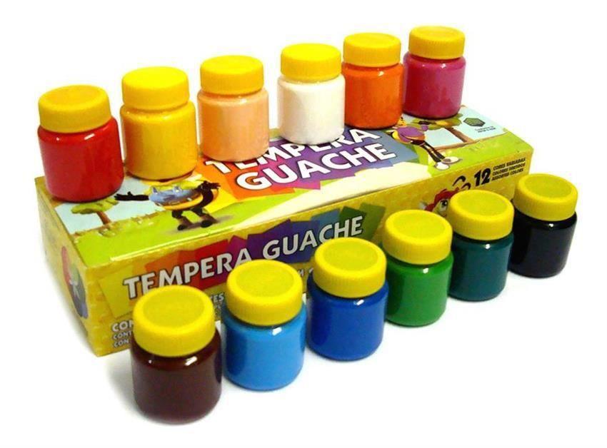 Tinta Guache Acrilex Caixa com 12 Unidades