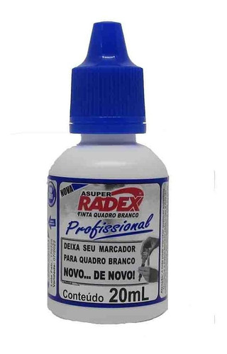 Tinta para Marcador de Quadro Branco Azul 20ml - Radex