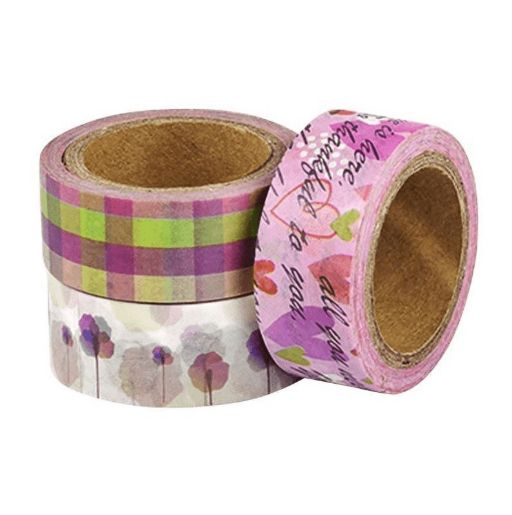 Washi tape Cute c/5 rolos de 5m cada