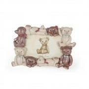 Porta Retrato Ursos de Cerâmica