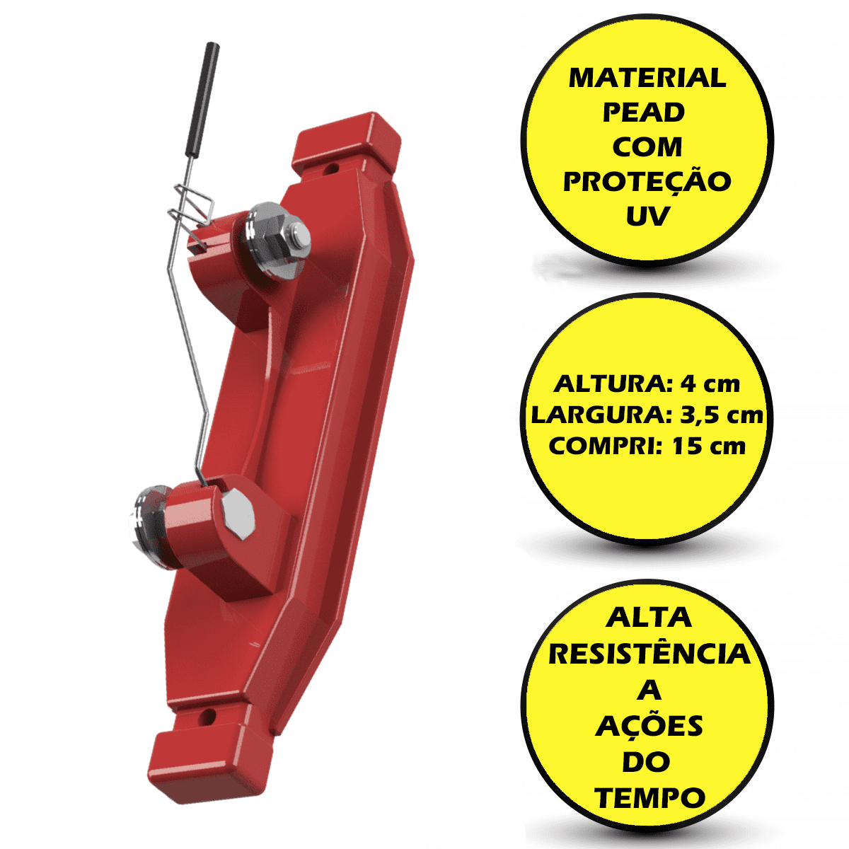 1 Chave Conexão Isolador Interruptor Interruptora Para Cerca Elétrica  - Ambientude Agro e Pet