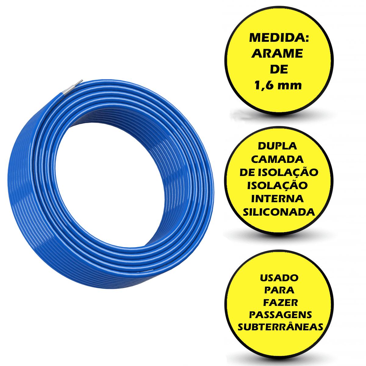 Cabo Subterraneo Para Cerca Eletrica Rural Super Reforçado 50 Metros  - Ambientude Agro e Pet