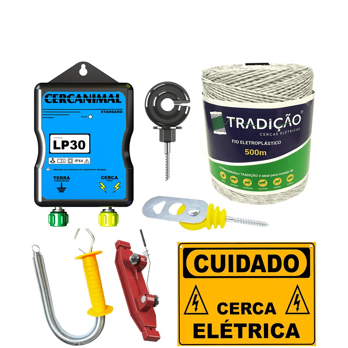 Cerca Elétrica Rural Ovinos Equinos Suínos Grande Completo  - Ambientude Agro e Pet