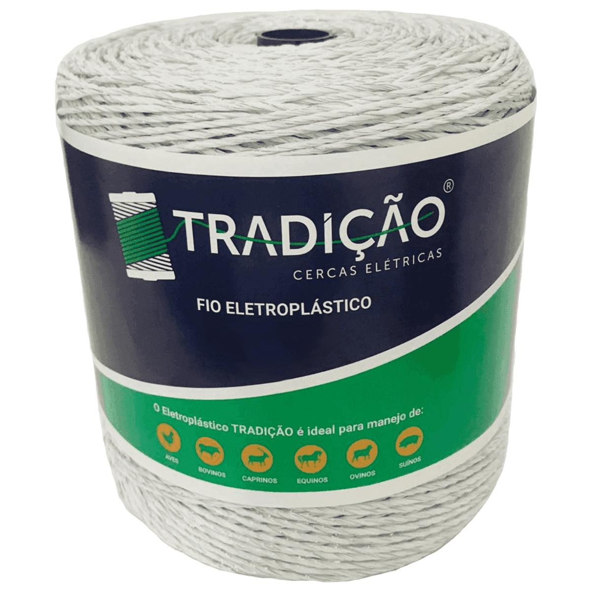 Fio Para Cerca Elétrica Rural Industrial Residencial Eletroplastico - 1500 Metros  - Ambientude Agro e Pet