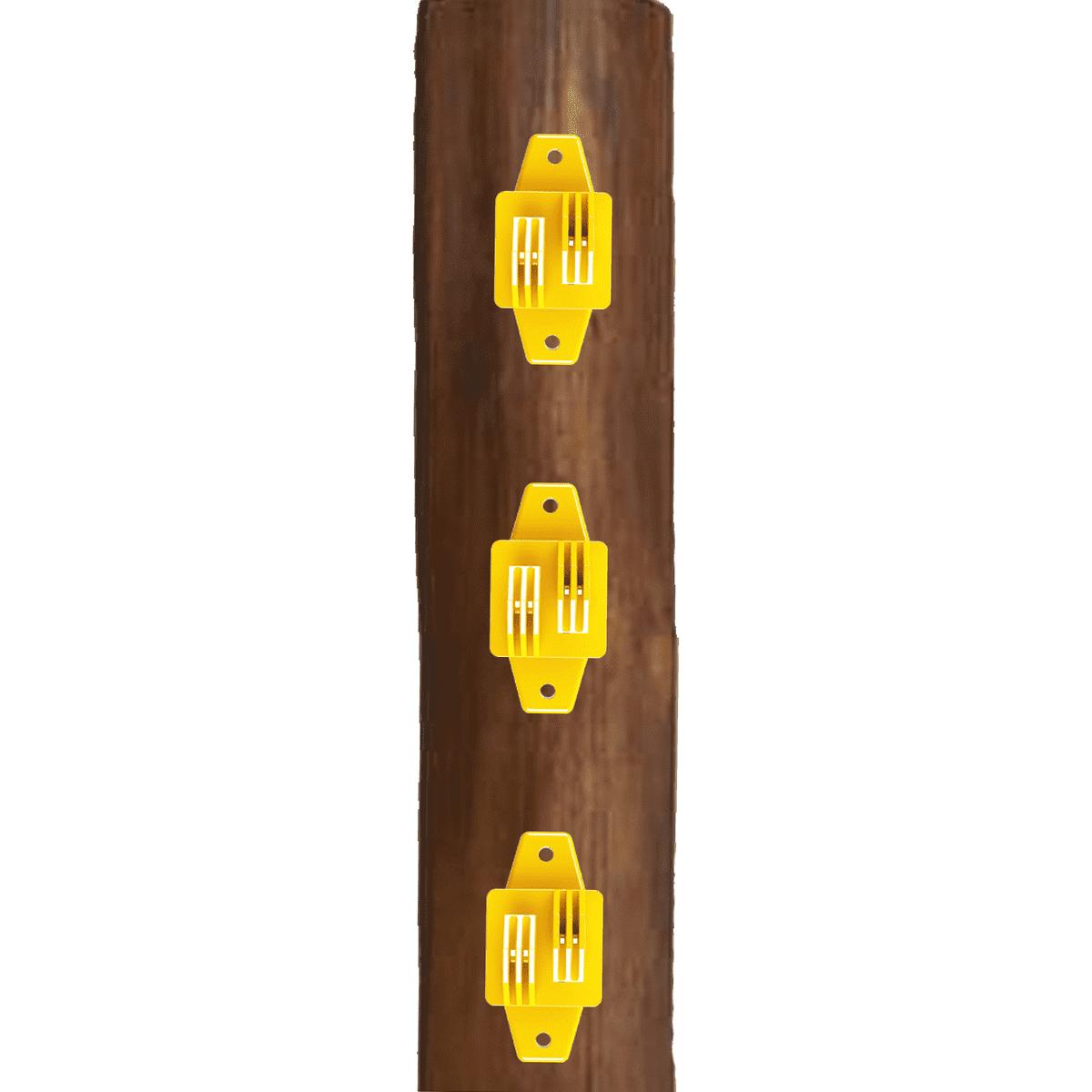 Isolador Tipo W Amarelo Cerca Elétrica Rural Residencial Industrial Pacote 100 Unidades  - Ambientude Agro e Pet