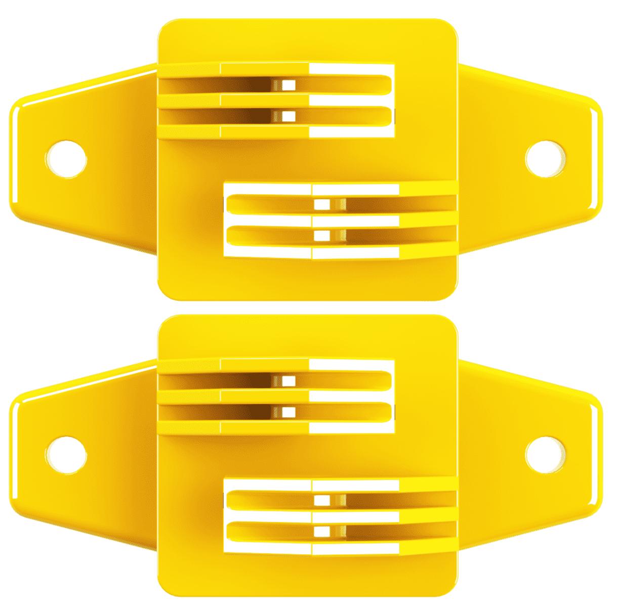 Isolador Tipo W Amarelo Cerca Elétrica Rural Residencial Industrial Pacote 50 Unidades  - Ambientude Agro e Pet