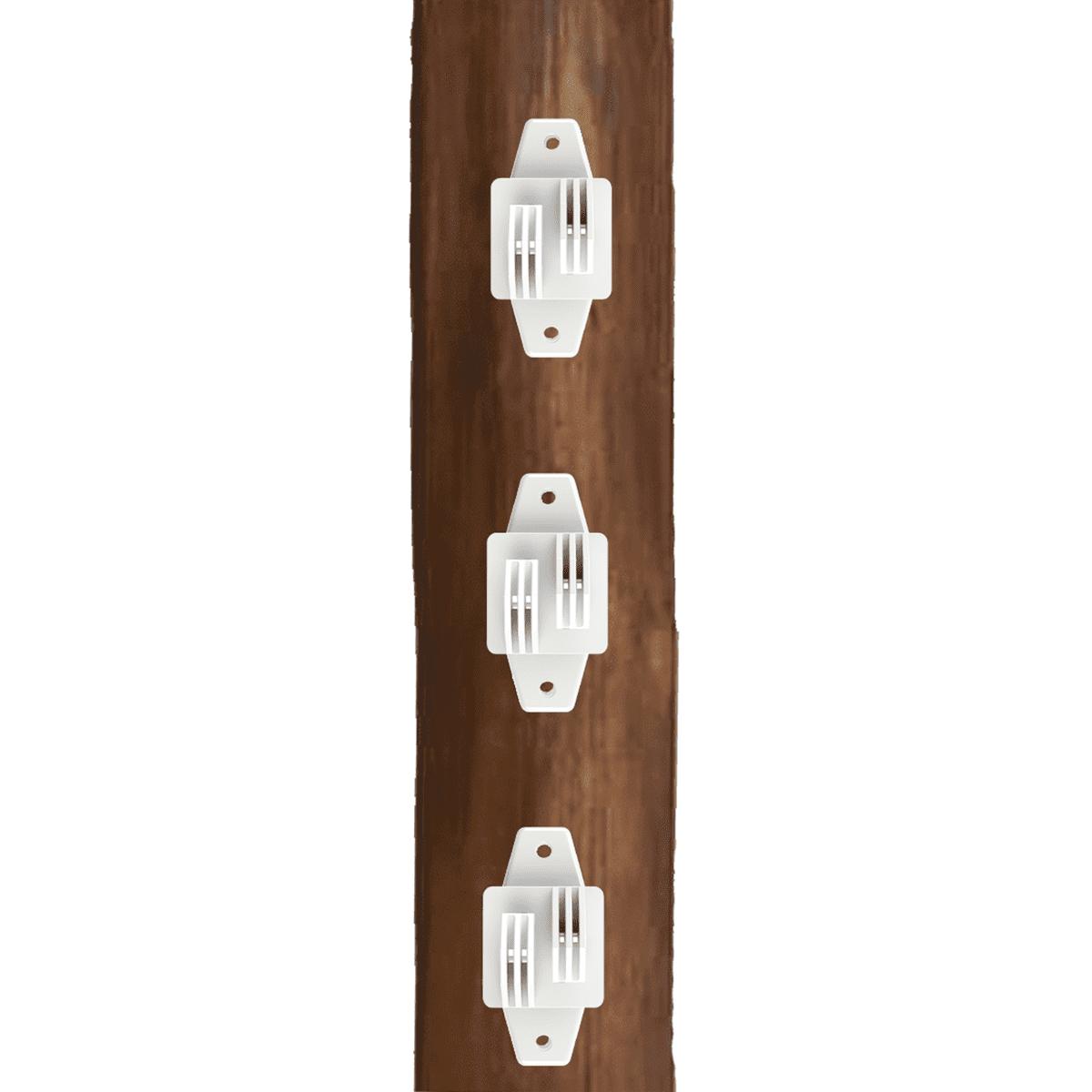Isolador Tipo W Branco Cerca Elétrica Rural Residencial Industrial Pacote 50 Unidades  - Ambientude Agro e Pet