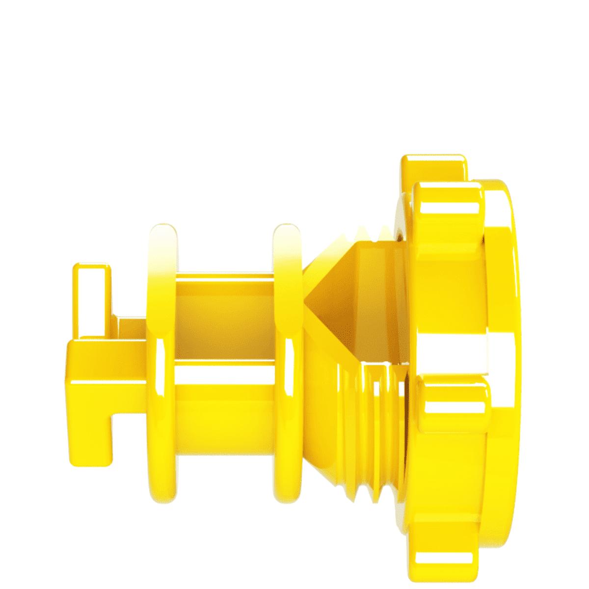 Isolador Vergalhão Rosca Amarelo Cerca Elétrica Rural Residencial Industrial Pacote 100 Unidades  - Ambientude Agro e Pet