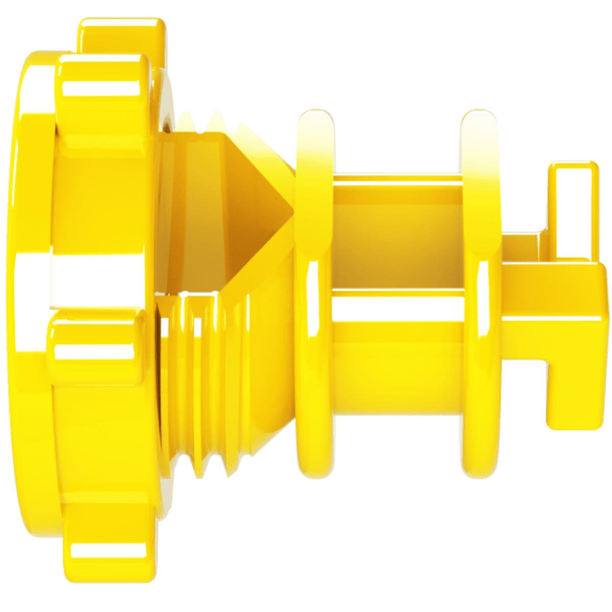 Isolador Vergalhão Rosca Amarelo Cerca Elétrica Rural Residencial Industrial Pacote 250 Unidades  - Ambientude Agro e Pet