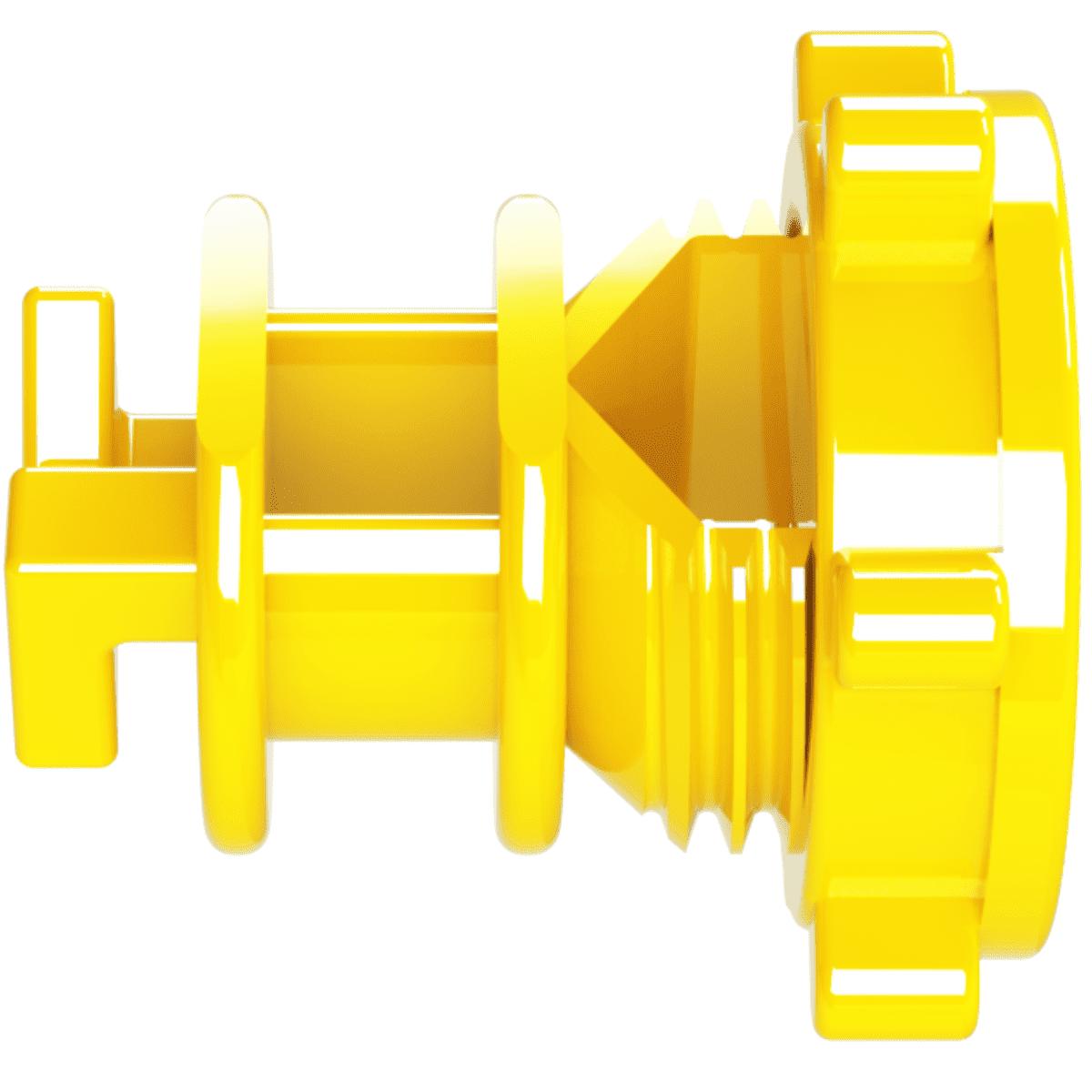 Isolador Vergalhão Rosca Amarelo Cerca Elétrica Rural Residencial Industrial Pacote 50 Unidades  - Ambientude Agro e Pet