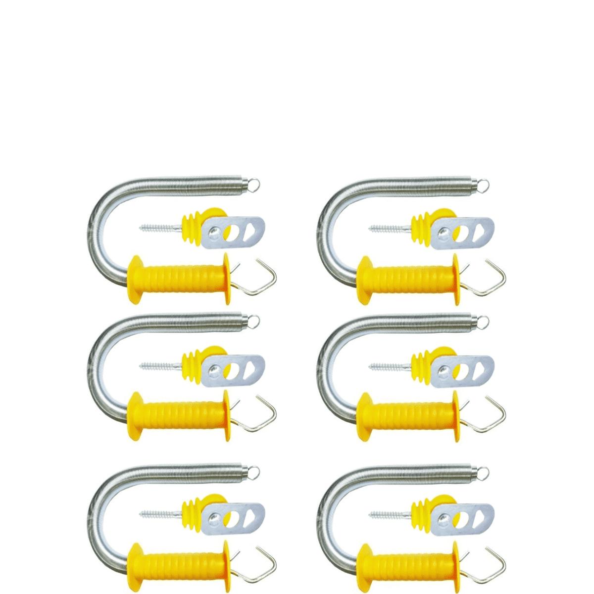 Kit 6 Porteiras Mola Externa Cerca Elétrica Rural 6 Batentes  - Ambientude Agro e Pet