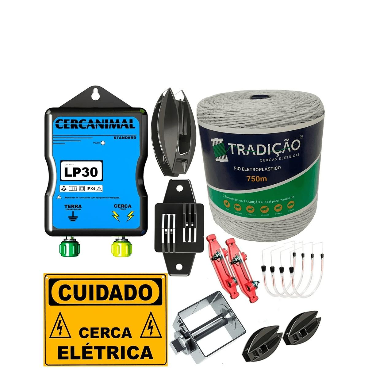 Kit Cerca Eletrica Rural Para Suinos Porco Kit Completo Com Fio  - Ambientude Agro e Pet