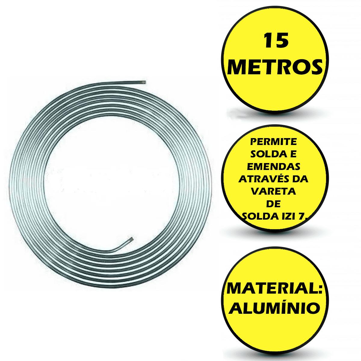 Serpentina Refrigeração Chopeira Cano Alumínio 15 Metros 3/8 Polegada   - Ambientude Agro e Pet