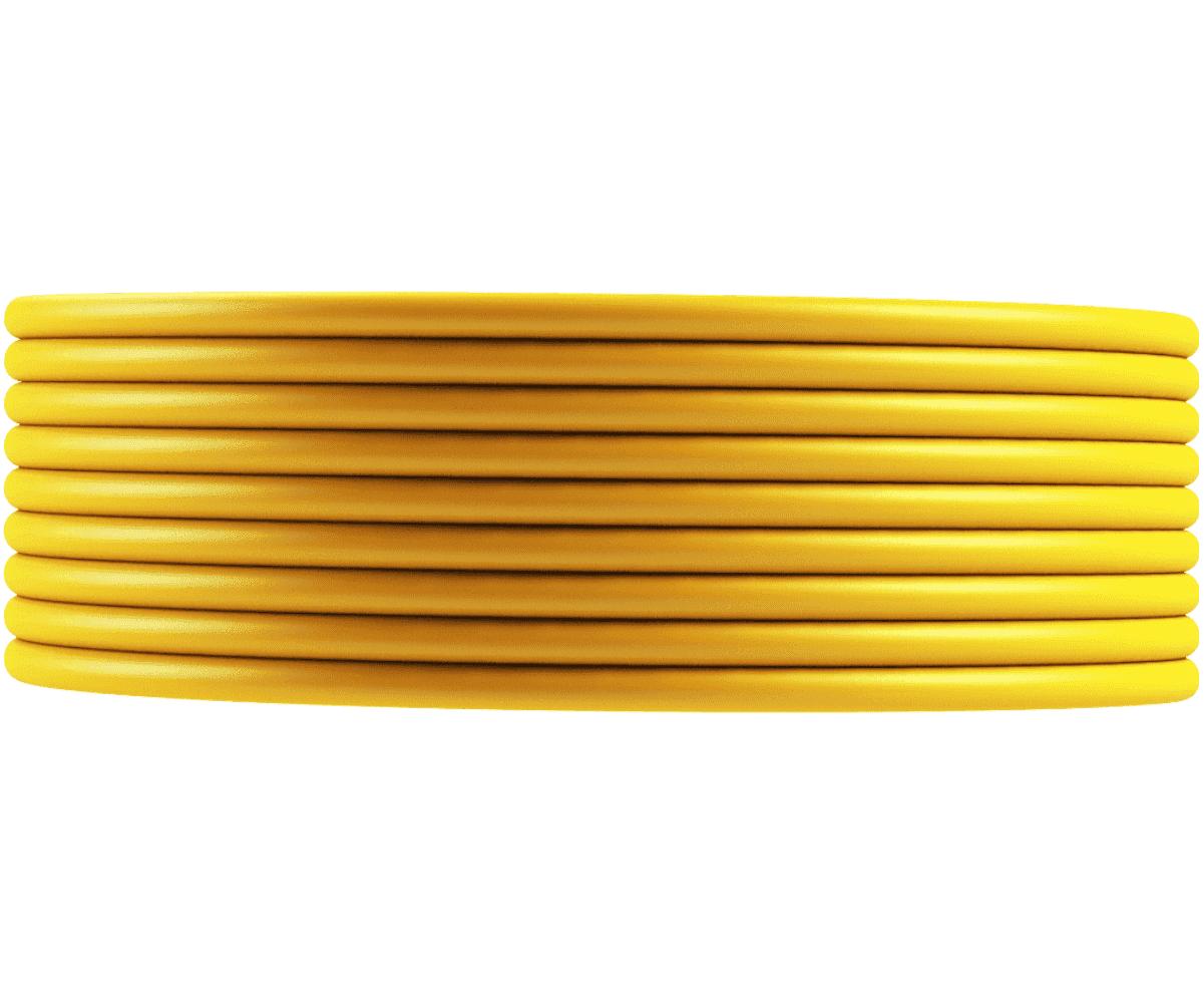 Tubo Isolador Cerca Elétrica 3/8 Amarelo - 100m  - Ambientude Agro e Pet