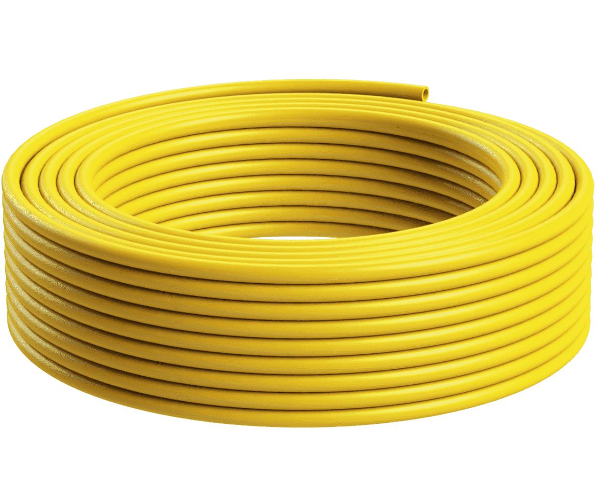 Tubo Isolador Cerca Elétrica 1/2 Amarelo - 50m   - Ambientude Agro e Pet