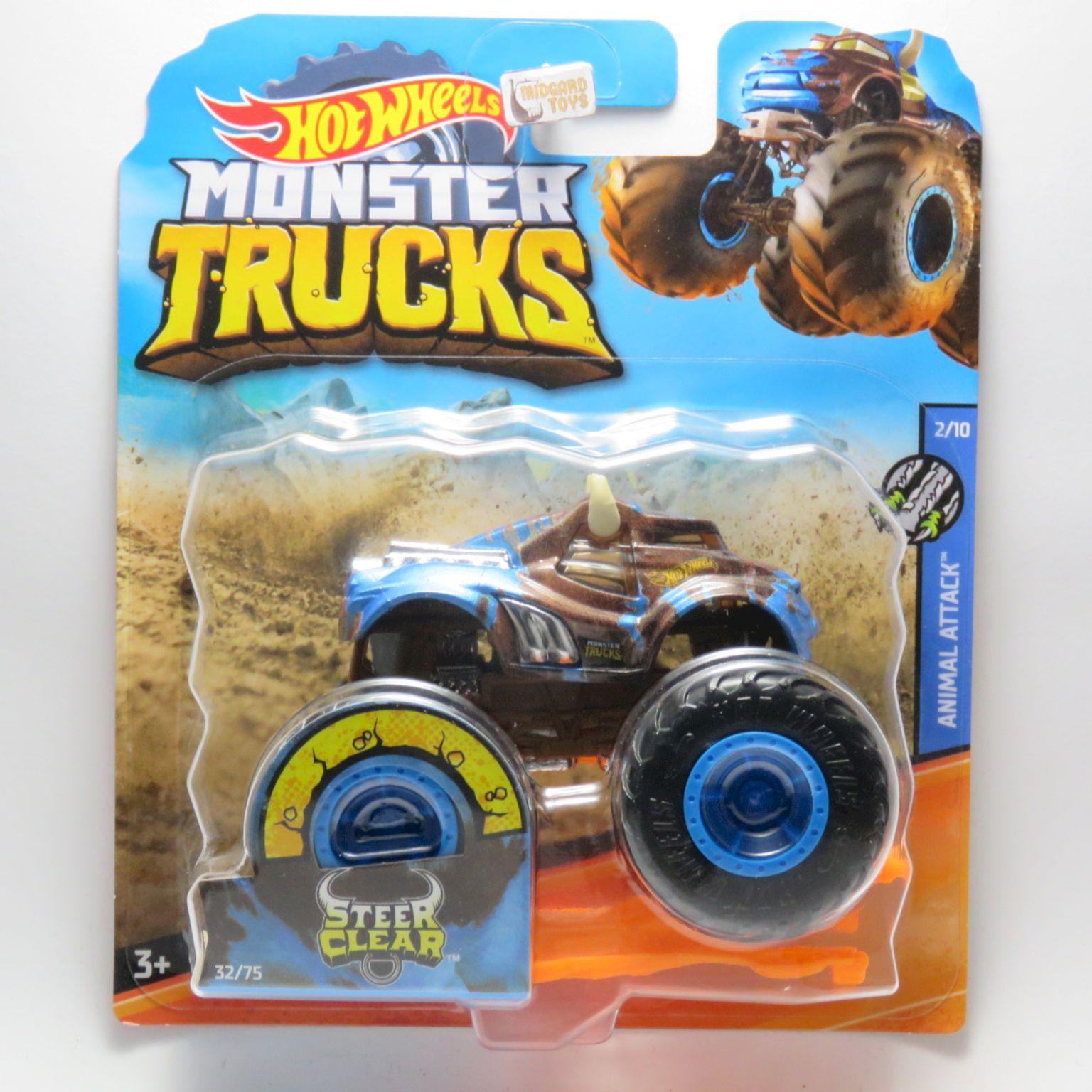 Midgard Toys Os Melhores Artigos De Todo O Reino Monster Trucks Steer Clear 32 1 64 Hot Wheels