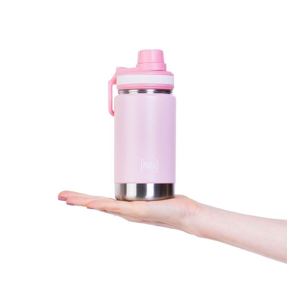 Garrafa Térmica Pacco Hydra Bottle Kids Rosa 355ml
