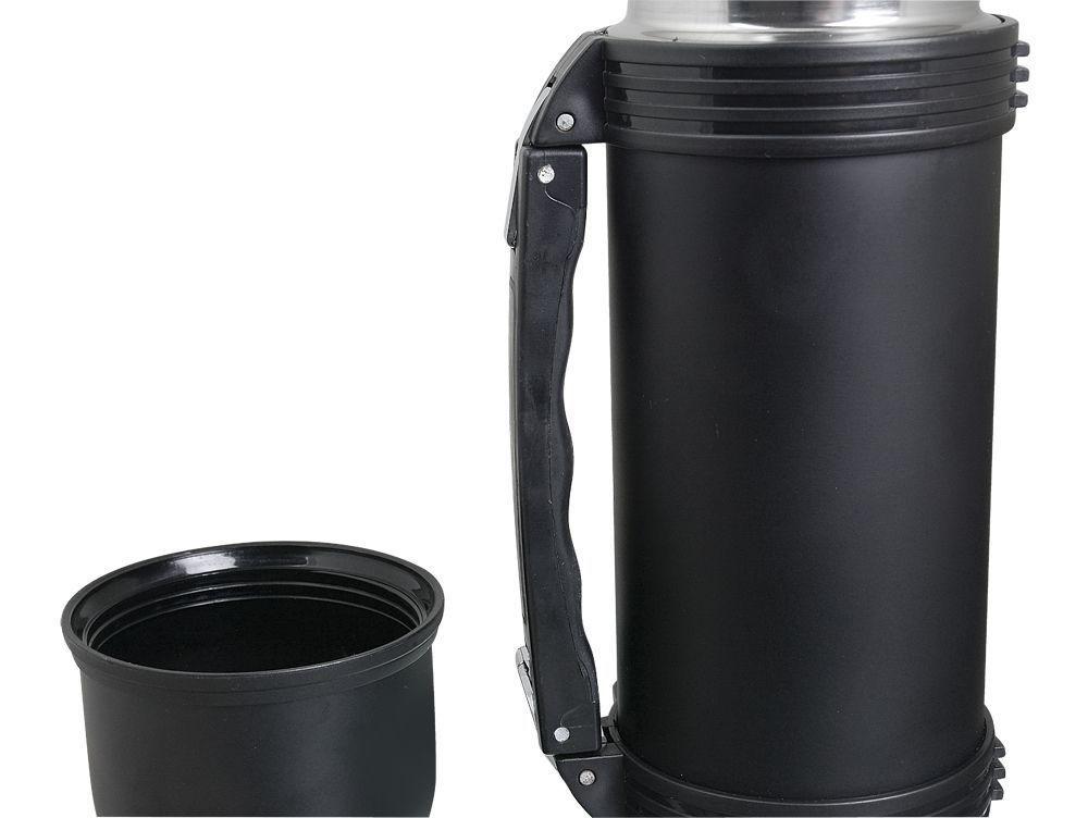 Garrafa Térmica Mokha Inquebrável Inox Black 1L