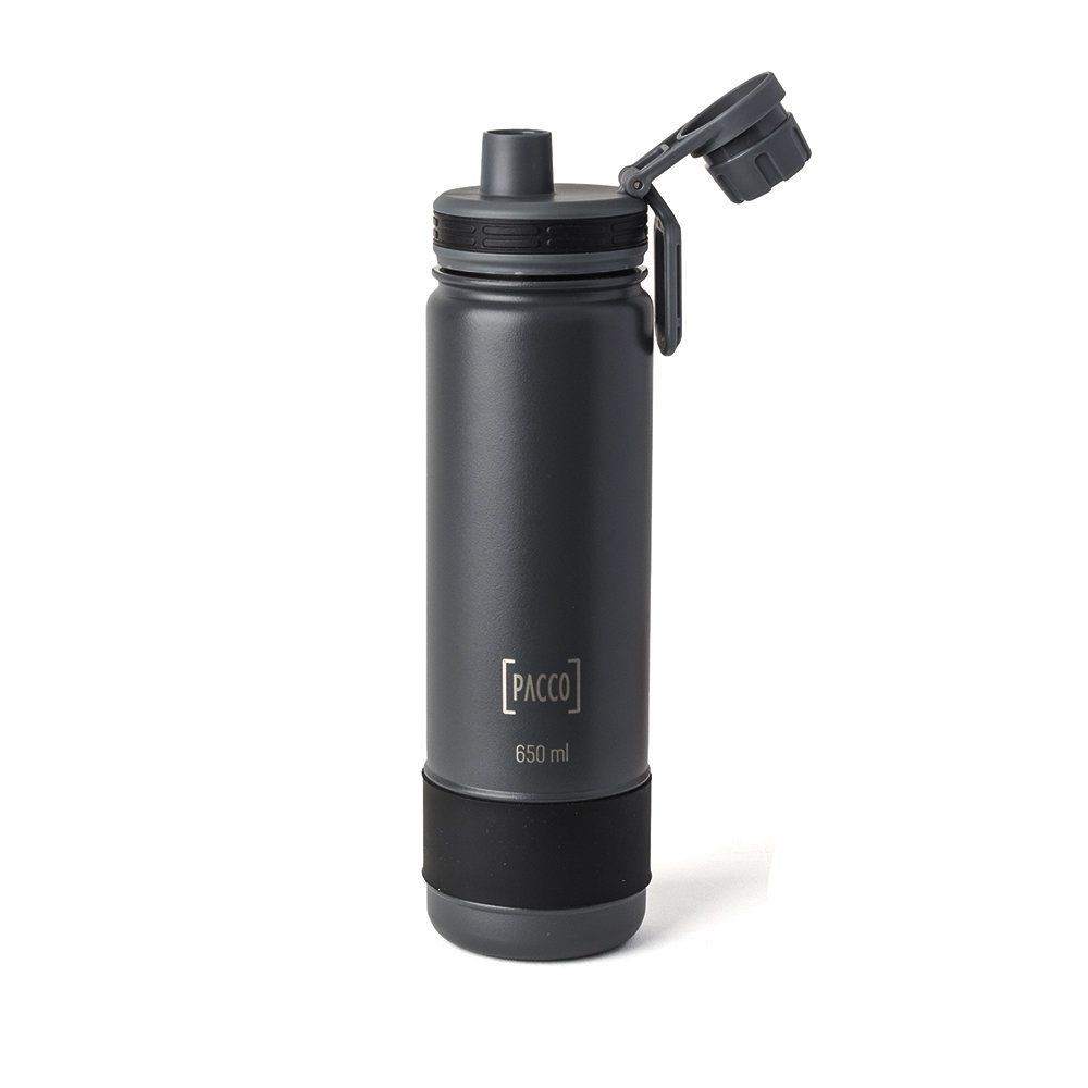 Garrafa Térmica Pacco Hydra Bottle 650ml Cinza