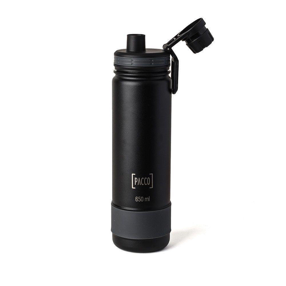 Garrafa Térmica Pacco Hydra Bottle 650ml Preta
