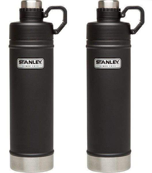 Kit Garrafa Térmica Stanley Hydration Preto Fosco 750ml