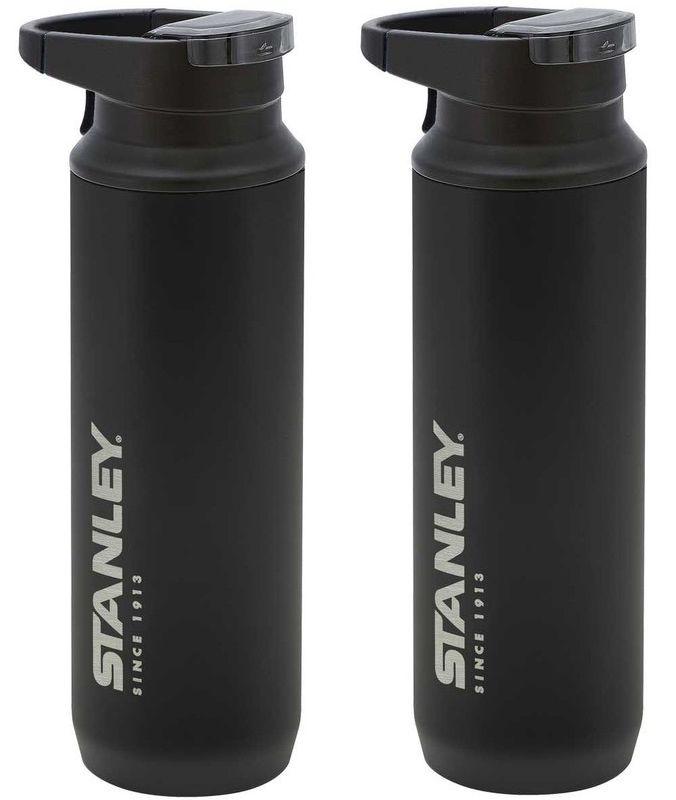 Kit Garrafa Térmica Stanley Switchback Preto Fosco 473ml