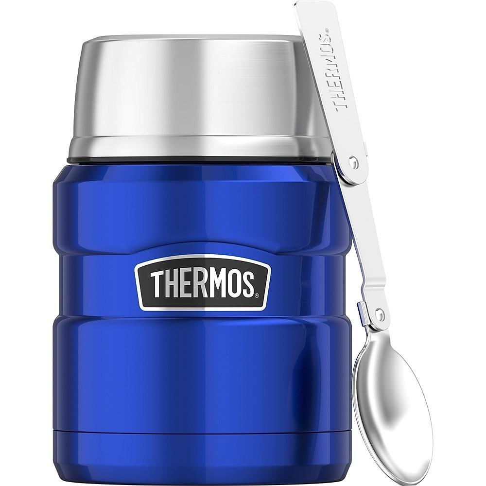 Pote Térmico Thermos Everest com Colher Azul 470ml