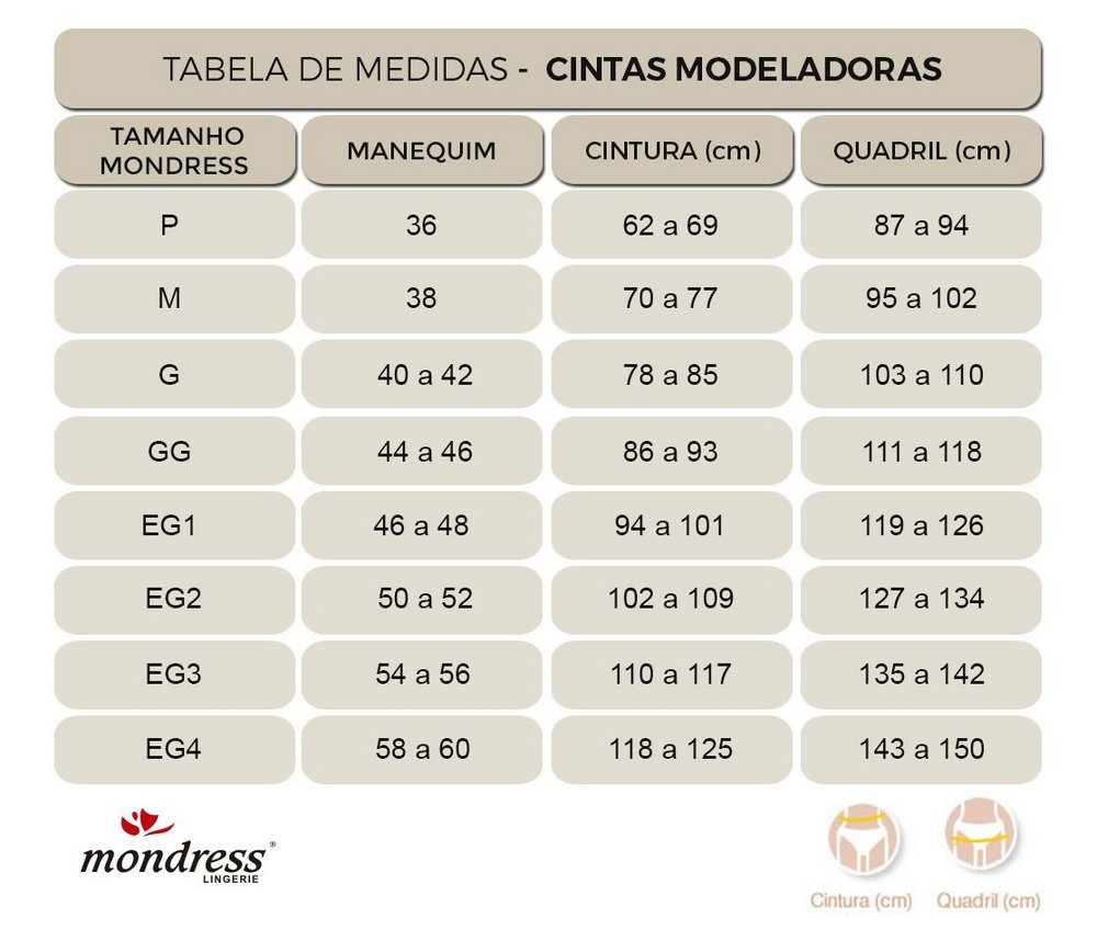 Cinta Modeladora Mondress 1020R