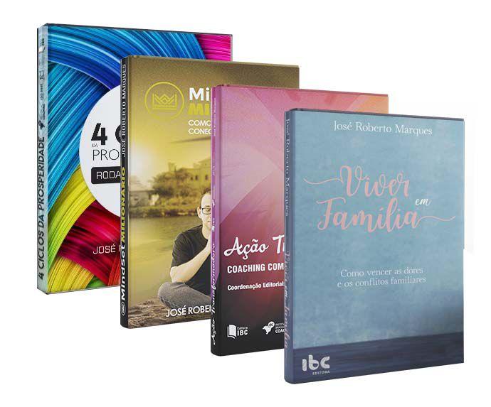 Combo Kit Livros - Mindset Ação Prosperidade e Família