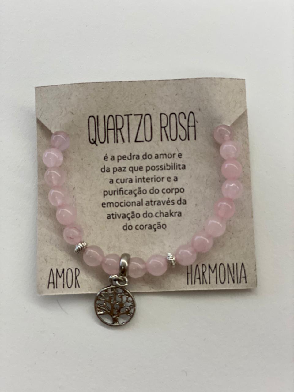 Pulseira Quartzo Rosa - Amor e Harmonia