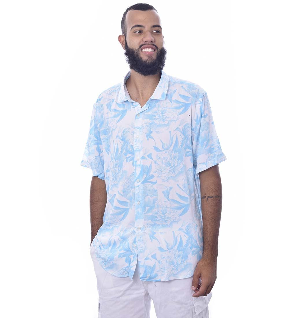 Camisa Floral de Botão Jota K