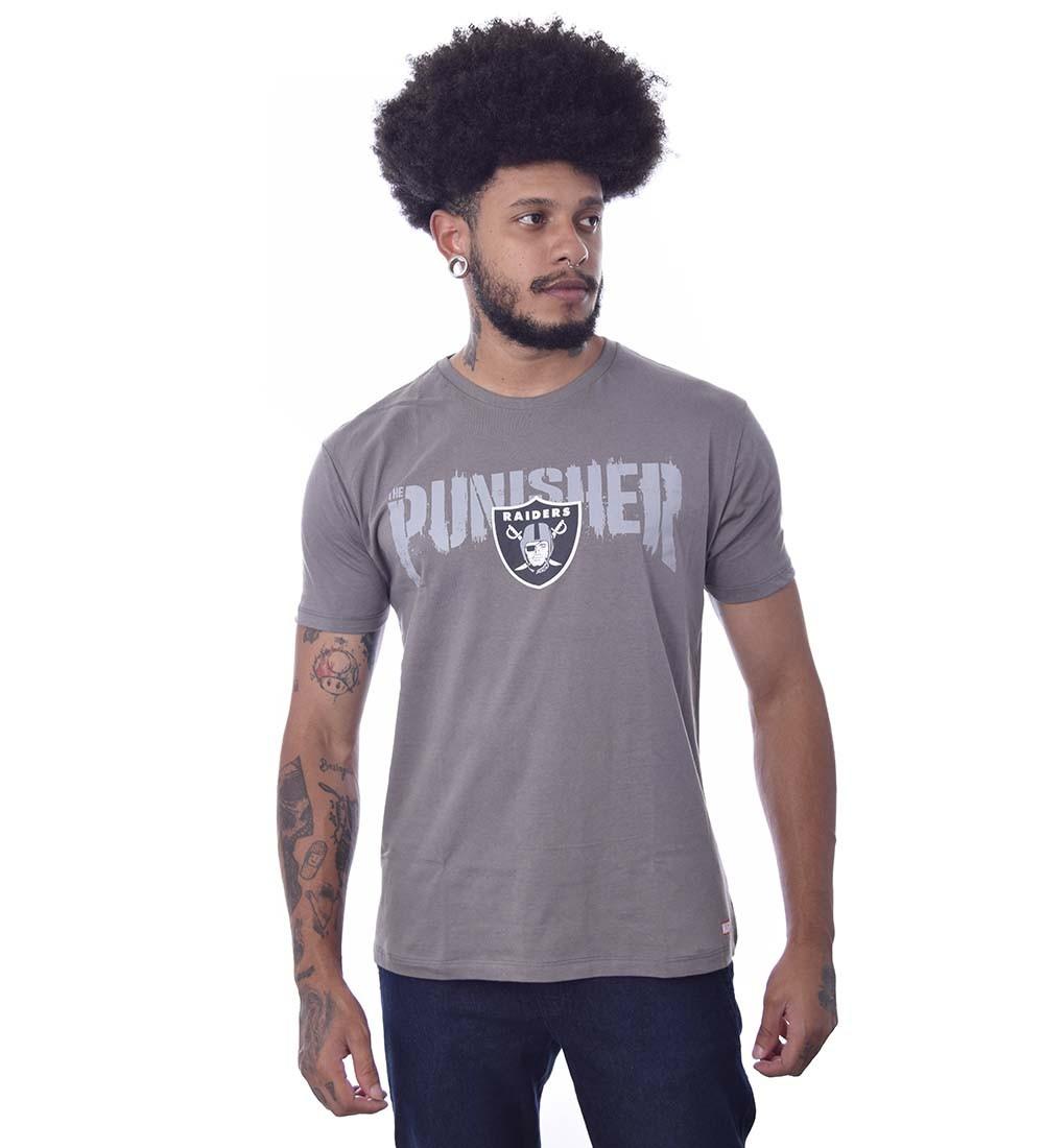 Camiseta Marvel O Justiceiro Oakland Raiders