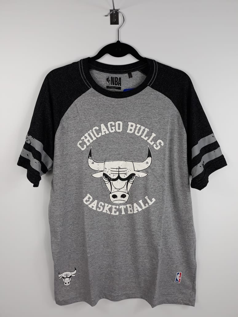 Camiseta NBA Chicago Bulls Raglan NBA