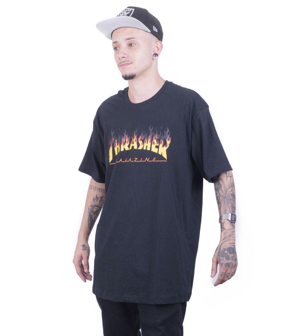 Camiseta Thrasher  Fogo