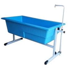 Banheira Com Regulagem Azul Grande c/ Degrau - Orion