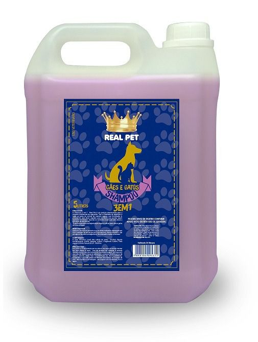 Shampoo 3x1 Real Pet 5 lts