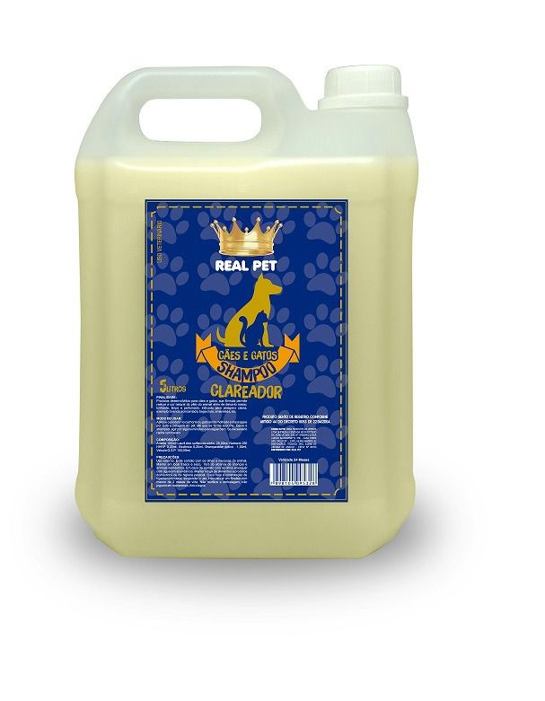 Shampoo Clareador Real Pet 5 LTS