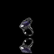 Anel Spider Cristal Fusion Roxo com Zircônias