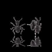 Brinco Bug Ant Negro com Zircônias