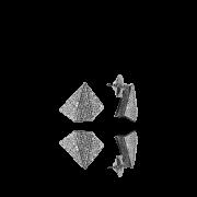 Brinco Pirâmide com Zircônias