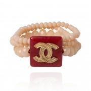 Pulseira Pedra Natural Inspiração Chanel
