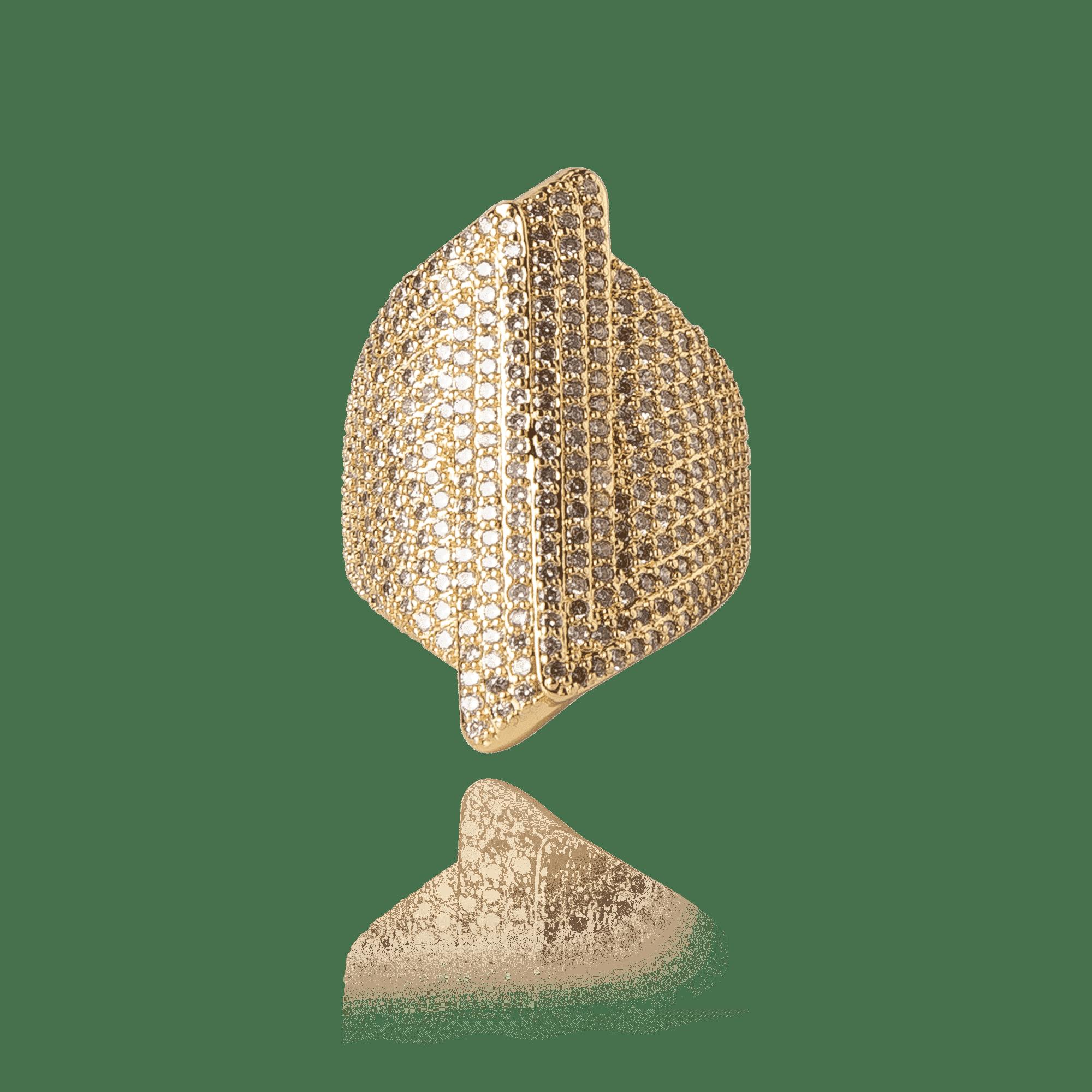 Anel Dourado Duo Shield