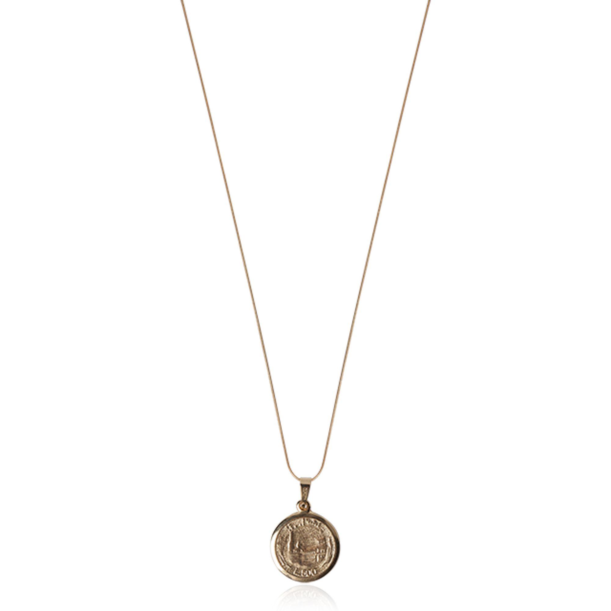 Colar Pingente Medalha Inspiração Versace