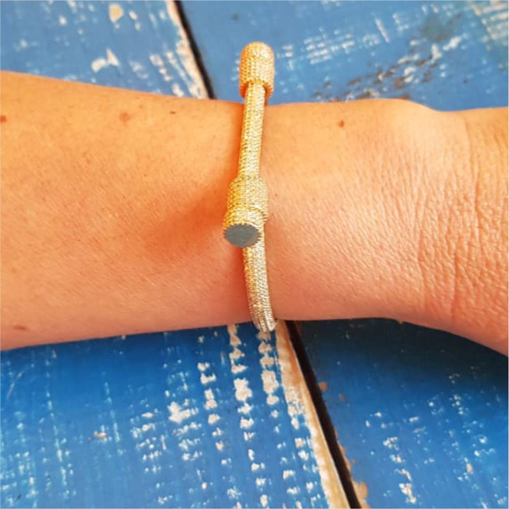 Pulseira Bracelete Aro com Zircônias