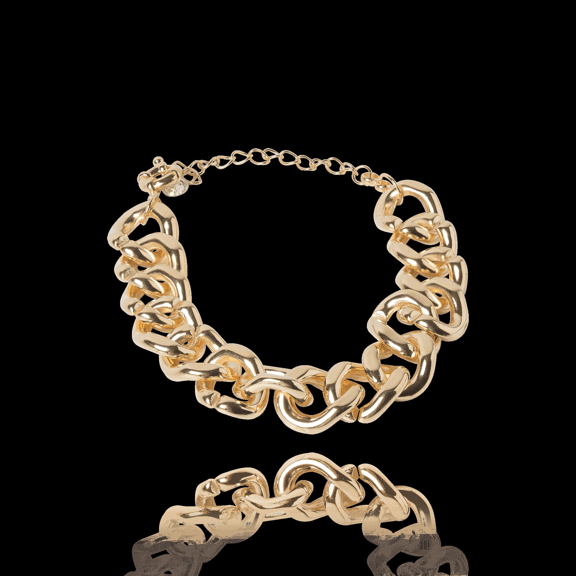 Pulseira Corrente Dourada inspiração Cartier