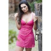 Camisola rendada com bojo Pink