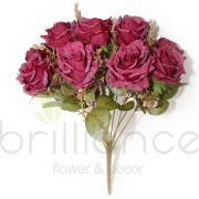Buquê de Rosa Envelhecida Com 9 flores - brilliance