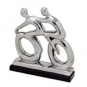 Estatueta decorativa cerâmica bicicleta 316-056 Mabruk