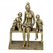 Estatueta decorativa resina família com gato 257-128 Mabruk